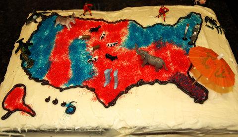 United states electoral cake